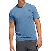 adidas Men's FreeLift Sport Prime Lite T-Shirt in Blue Heather