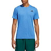 adidas Men's FreeLift Sport T-Shirt in Glory Blue/White