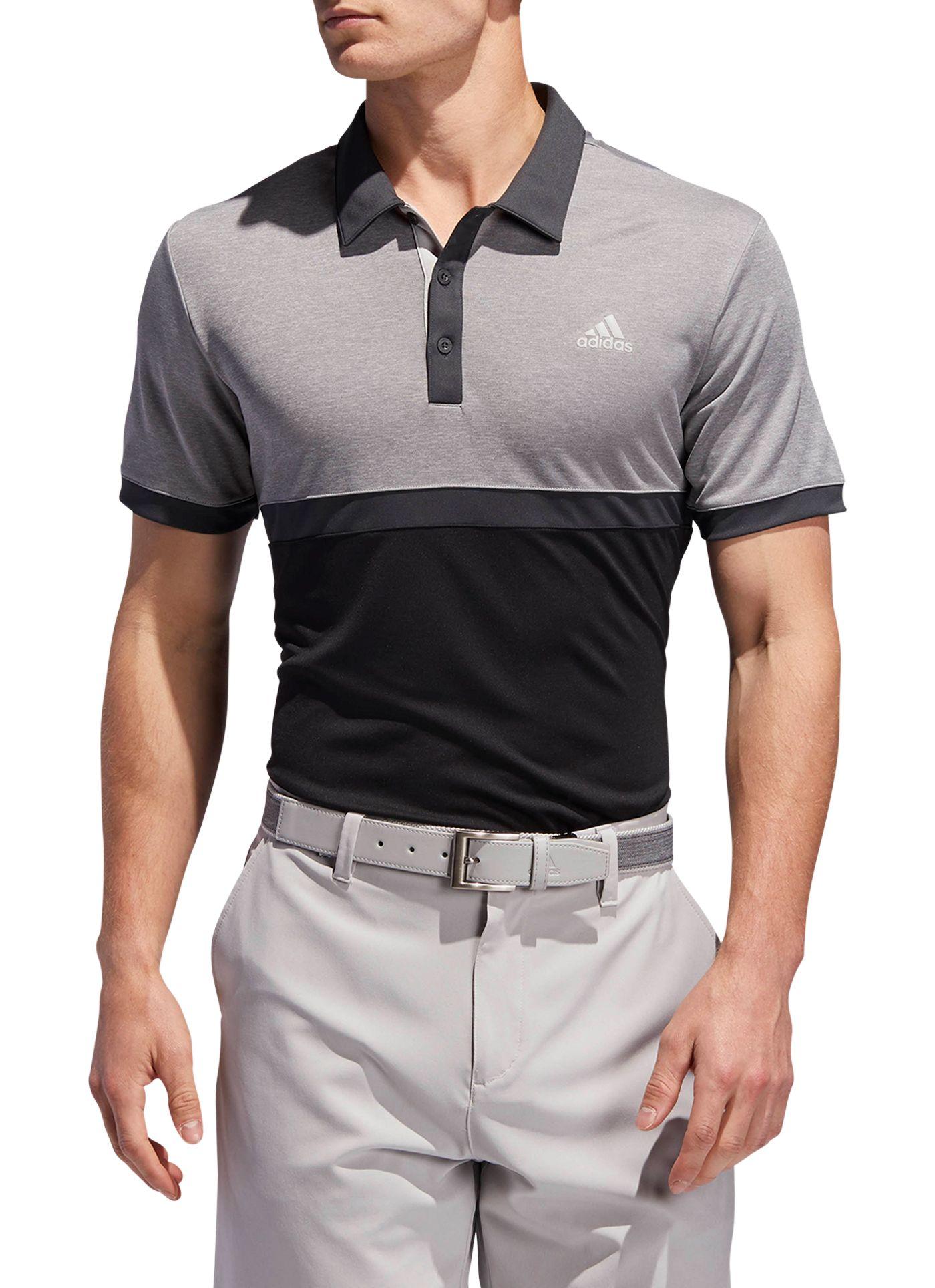 adidas Men's Drive Heather Colorblock Golf Polo