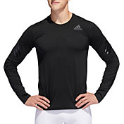 adidas Men's Alphaskin 3-Stripes Long Sleeve Shirt
