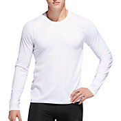 adidas Men's Alphaskin 3-Stripes Long Sleeve Shirt