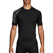 adidas Men's Alphaskin Badge of Sport Logo Compression T-Shirt