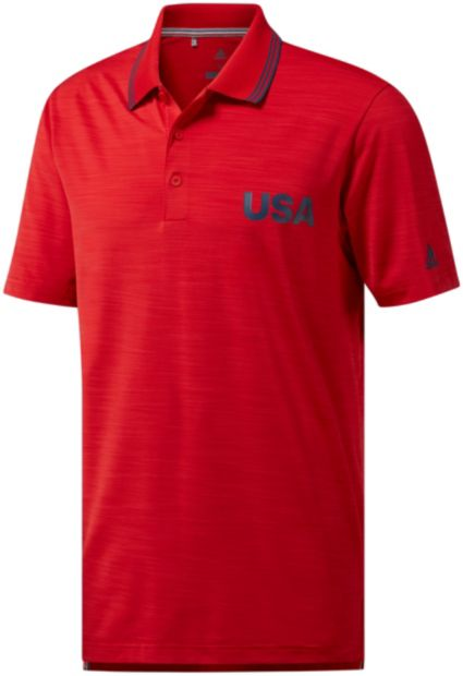 adidas Men's Ultimate365 USA Heather Golf Polo