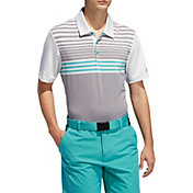 adidas Men's Ultimate365 3-Stripe Heather Gradient Golf Polo