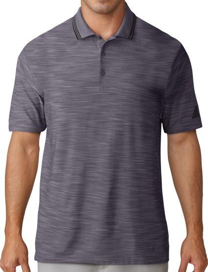 adidas Men's Ultimate365 Striped Collar Golf Polo