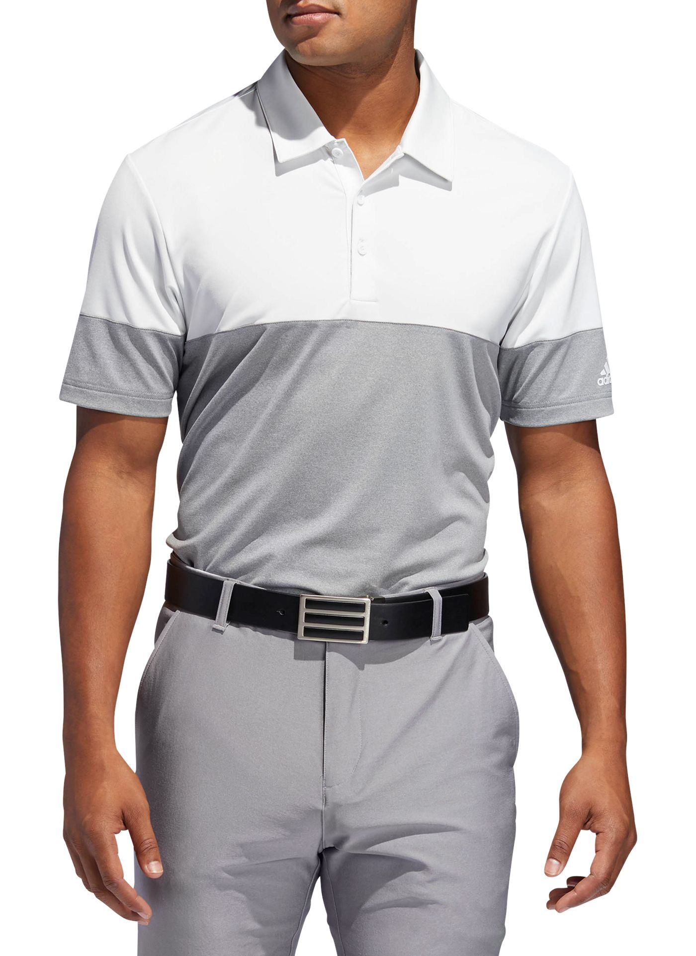 adidas Men's Ultimate365 Heather Block Golf Polo