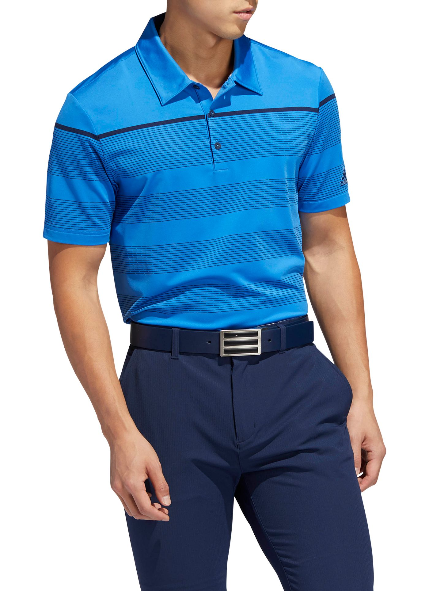 adidas Men's Ultimate365 Engineered Stripe Golf Polo