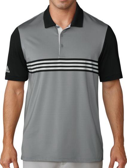 adidas Men's Ultimate365 Engineered 3 Stripe Golf Polo