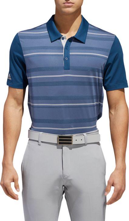 adidas Men's Ultimate365 Novelty Stripe Golf Polo