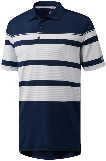 adidas Men's Ultimate365 Wraparound Stripe Golf Polo
