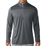 adidas Men's Lightweight UPF Quarter-Zip Golf Pullover