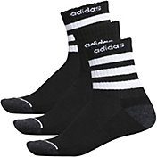 adidas Men's 3-Stripe Quarter Crew Socks - 3 Pack