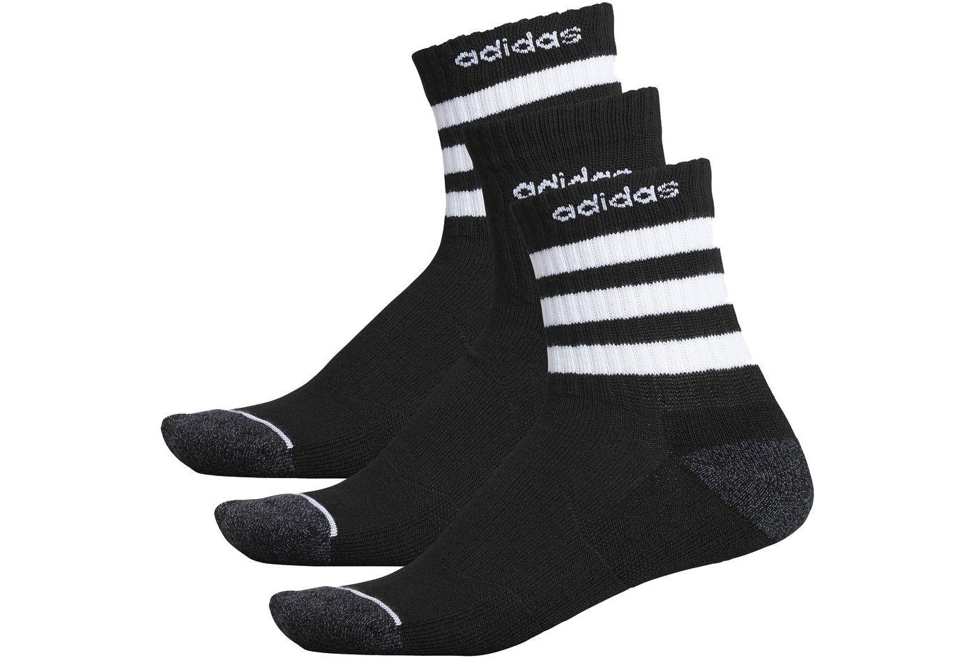adidas Men's 3-Stripe Quarter Crew Socks - 3 Pack