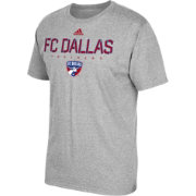adidas Men's FC Dallas Logo Heather Grey T-Shirt