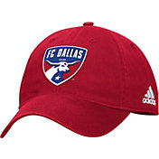 adidas Men's FC Dallas Logo Red Sloouch Adjustable Hat