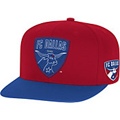 adidas Men's FC Dallas Two-Tone Red/Blue Snapback Adjustable Hat