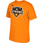 adidas Men's Houston Dynamo Logo Set Orange T-Shirt