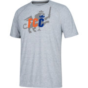 adidas Men's FC Cincinnati Lion Crest Heather Grey Performance T-Shirt