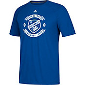 adidas Men's FC Cincinnati Best Crest Blue Performance T-Shirt