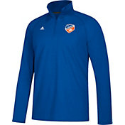 adidas Men's FC Cincinnati Crest Blue Performance Quarter-Zip Pullover