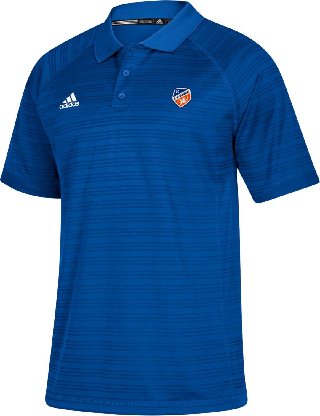 new style 1d073 8987b adidas Men's FC Cincinnati Crest Blue Polo