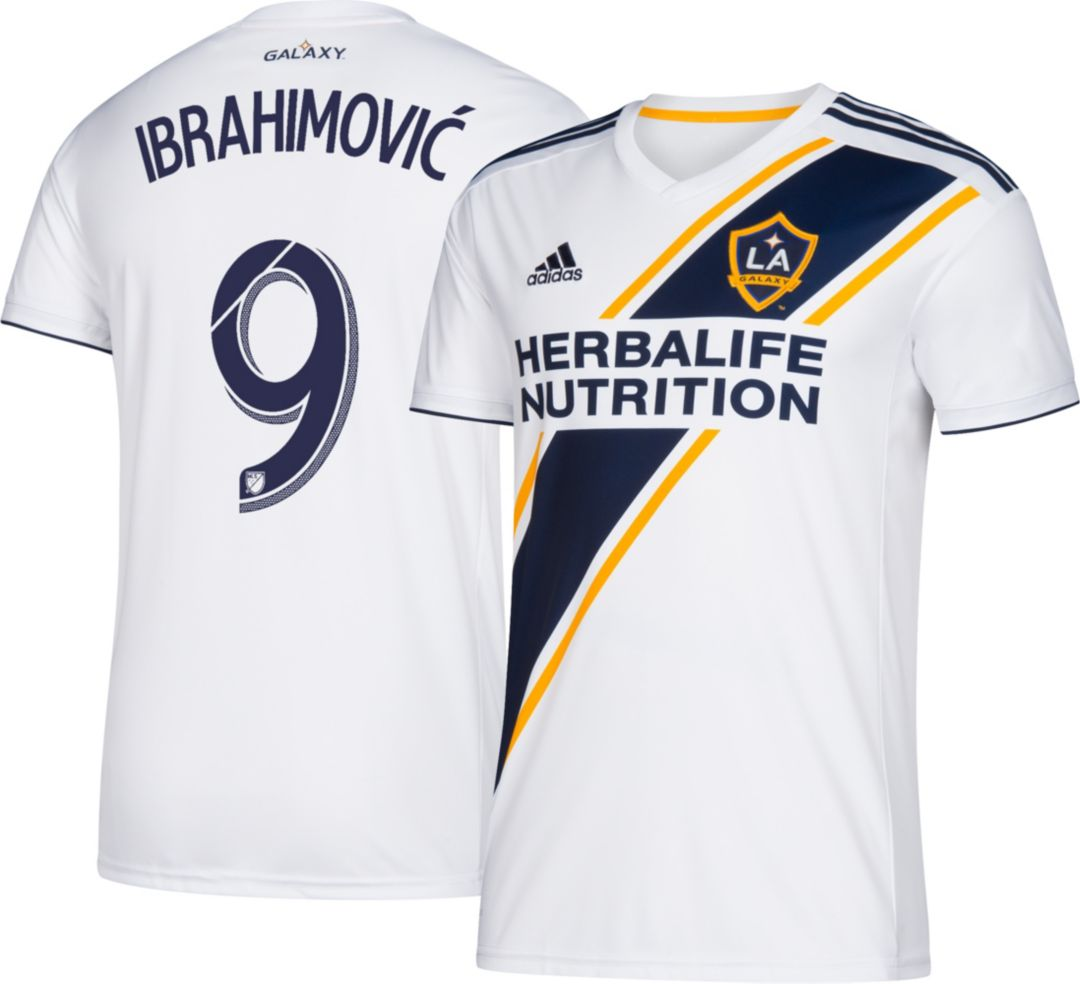 new product a66e4 071fd adidas Men's Los Angeles Galaxy Zlatan Ibrahimovic #9 Primary Replica Jersey