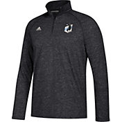 adidas Men's Minnesota United FC Ultimate Black Heathered Performance Quarter-Zip Pullover
