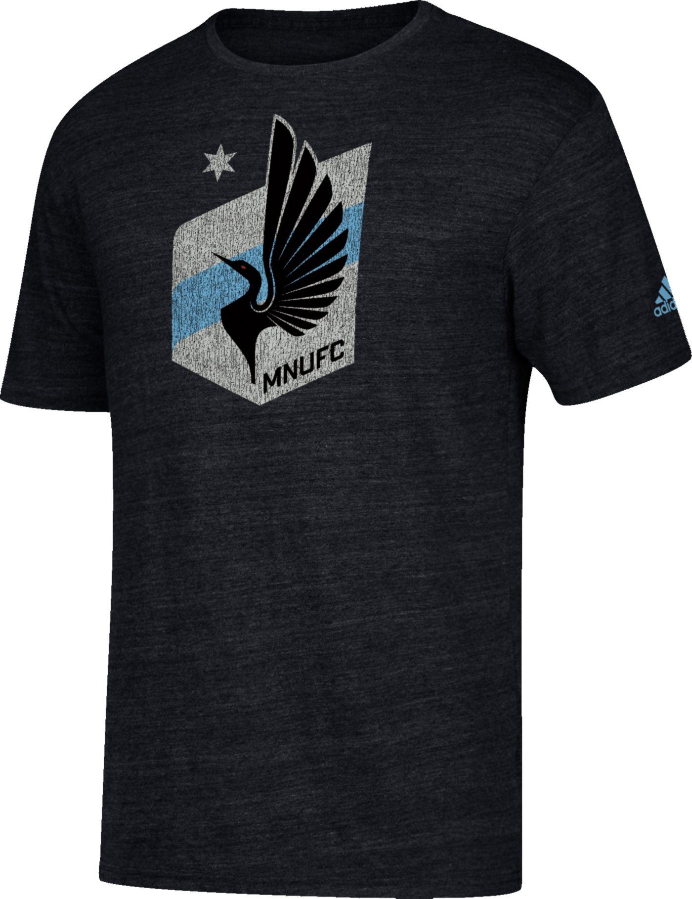 adidas Men's Minnesota United FC Vintage Too Heathered Black T-Shirt