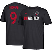 adidas Men's D.C. United Wayne Rooney #9 Black Player T-Shirt