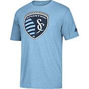 adidas Men's Sporting Kansas City Vintage Too Blue Heathered T-Shirt