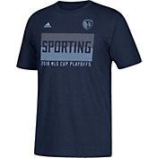 adidas Men's 2018 MLS Cup Playoffs Sporting Kansas City Navy T-Shirt