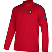 adidas Men's Atlanta United Logo Red Quarter-Zip Pullover