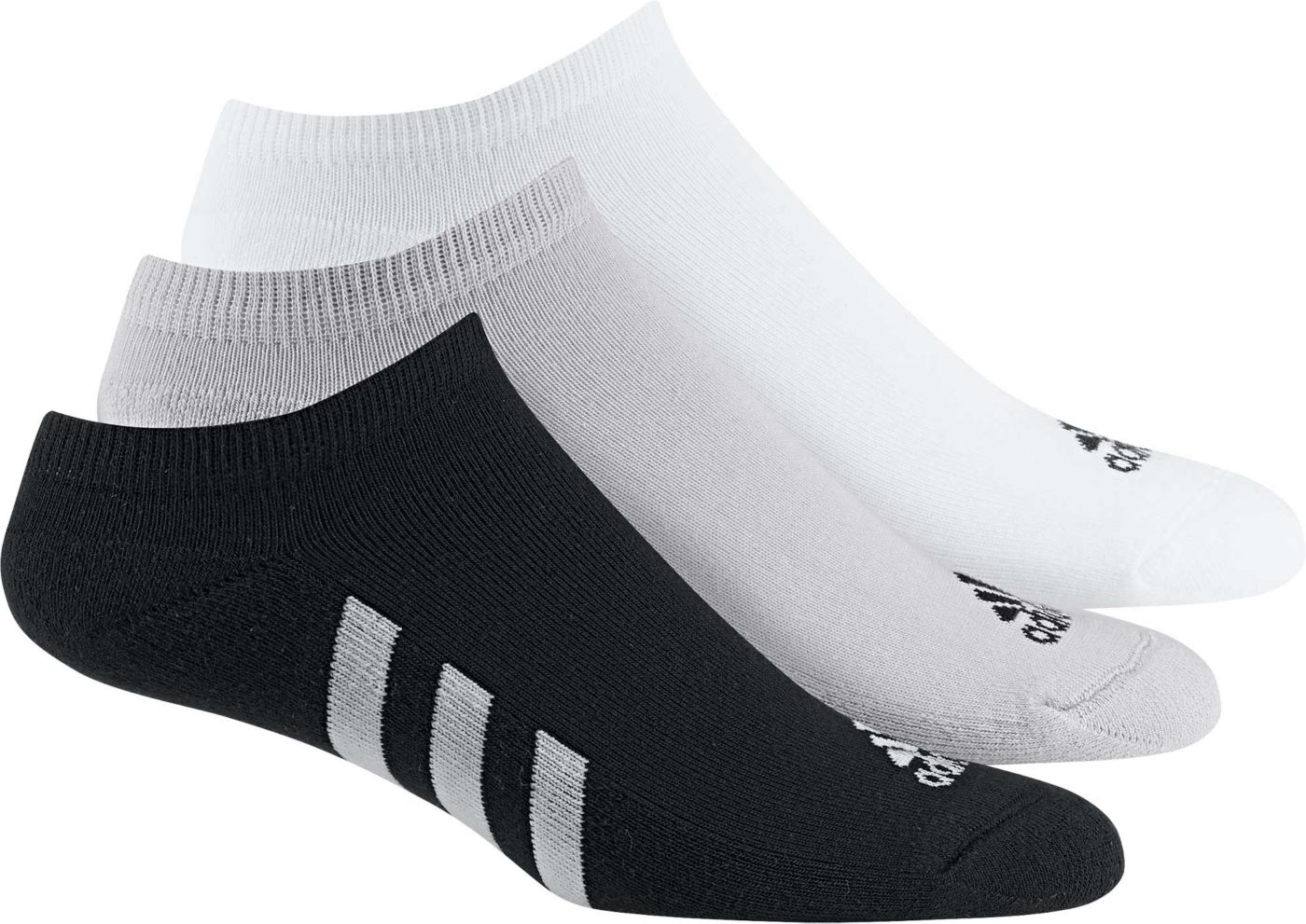 adidas Men's No Show Golf Socks – 3 pack