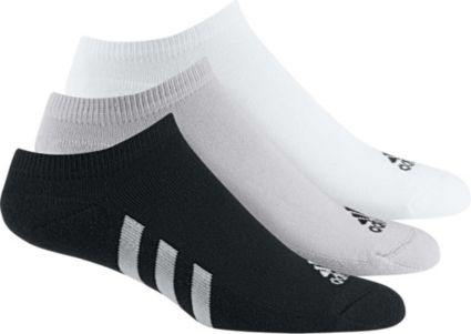 adidas Men's No Show Golf Socks – 3 pack