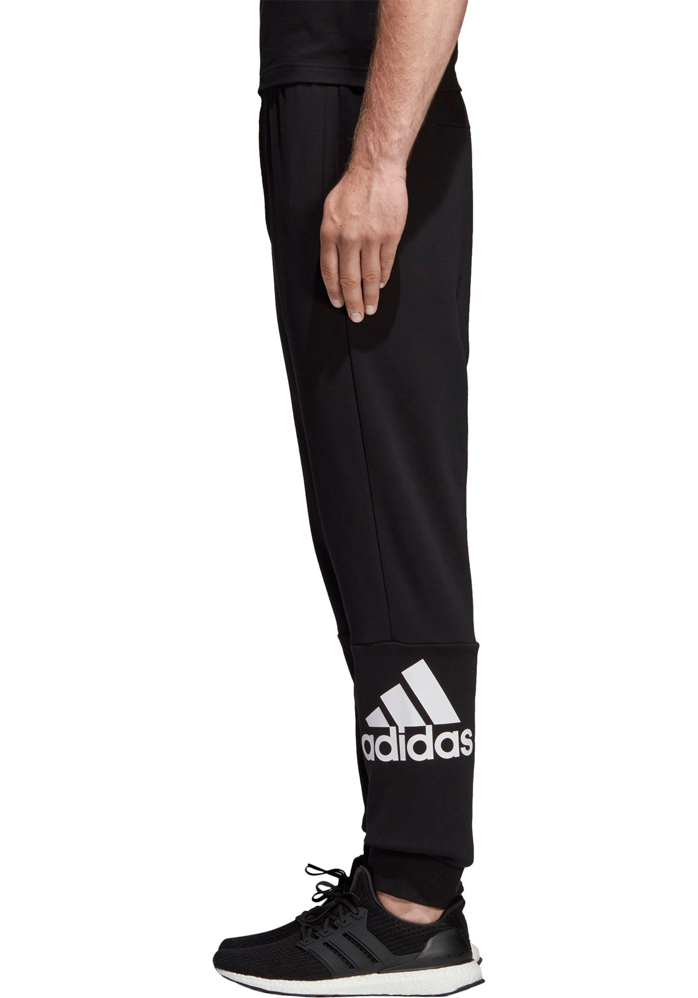 adidas Men's Must Haves Badge of Sport Logo Tapered Pants