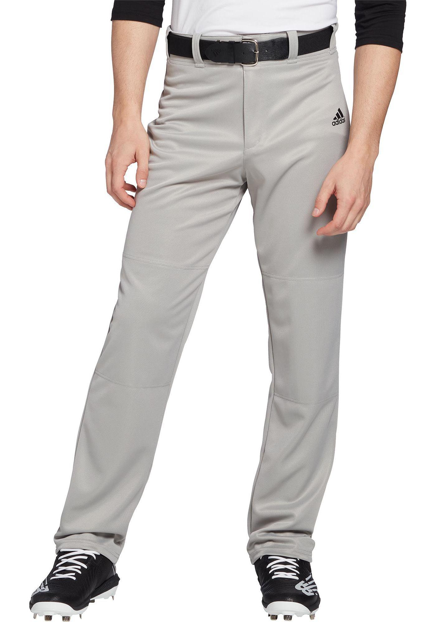 adidas Men's Triple Stripe Open Bottom Baseball Pants
