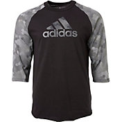 huge selection of 518e8 ae303 Product Image · adidas Mens Triple Stripe Printed ¾ Sleeve Baseball Shirt