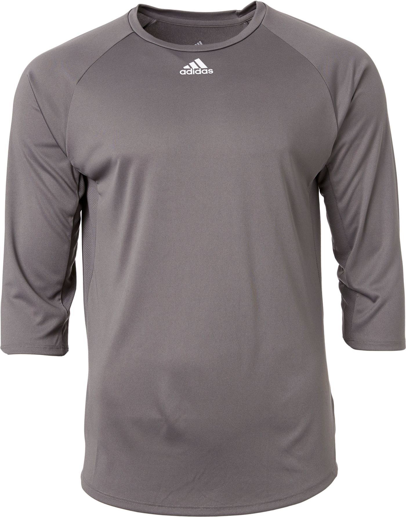 adidas Men's Triple Stripe ¾ Sleeve Tech Baseball Practice Shirt