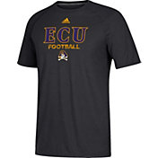 adidas Men's East Carolina Pirates Ultimate Performance Football Black T-Shirt