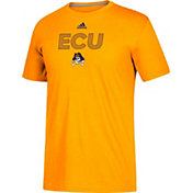 adidas Men's East Carolina Pirates Gold Go-To Performance T-Shirt