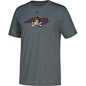 adidas Men's East Carolina Pirates Grey Logo T-Shirt