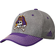 adidas Men's East Carolina Pirates Grey/Purple Structured Adjustable Hat