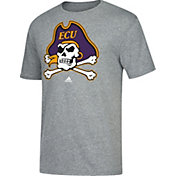 adidas Men's East Carolina Pirates Grey Vintage Tri-Blend T-Shirt