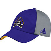 adidas Men's East Carolina Pirates Purple/Grey Slouch Football Sideline Hat