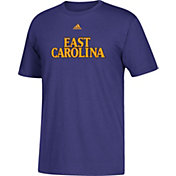 adidas Men's East Carolina Pirates Purple Wordmark T-Shirt