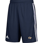 adidas Men's Georgia Tech Yellow Jackets Navy 3-Stripes Knit Performance Shorts