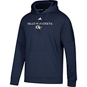 adidas Men's Georgia Tech Yellow Jackets Navy Team Issue Performance Hoodie
