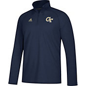 adidas Men's Georgia Tech Yellow Jackets Navy Long Sleeve Performance Quarter-Zip Shirt