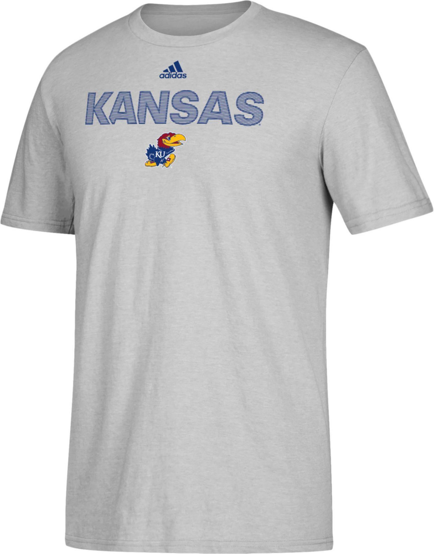 adidas Men's Kansas Jayhawks Grey Go-To Performance T-Shirt