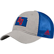 adidas Men's Kansas Jayhawks Grey/Blue Slouch Meshback Adjustable Hat